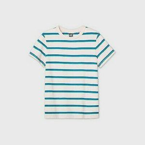 Wild Fable Size XS Short Sleeve Stripe Pink Blue Green NWT Crew Neck
